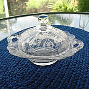 Butter or Cheese Dish Diane Etch Domed Cambridge