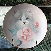 Petals and Purrs 1988 Bob Harrison Blushing Beauties Collector Plate