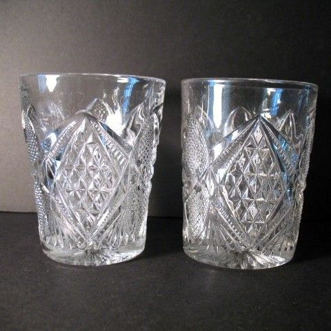 EAPG 2 Pennsylvania Tumblers Set Late 1880s