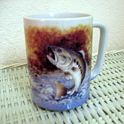 Trout Fish Mug Otagiri Ceramic Made in Japan