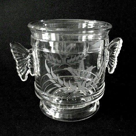 Butterfly Handles Open Sugar Aetna Glass EAPG 1883