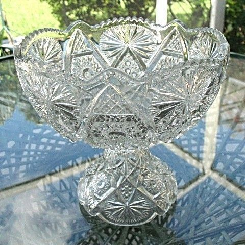 Compote Fruit Pedestal Bowl 1906 Regal Pattern