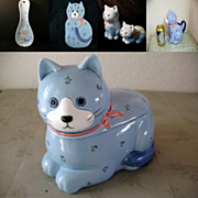 Kitchen Set 5 Otagiri Blue Cat 1984