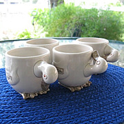 Ducks Mug Set 4 Fitz Floyd Animal Quackers
