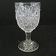 Small Wine Glasses 8 Hobstar and File Westmoreland Specialty 1912