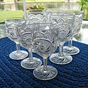 Small Wine Glasses 7 Aztec McKee Glass