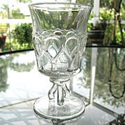 Westmoreland Glass Goblet Oval Loops Goblet