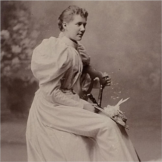 Cabinet Card-  Lady In Revealing Profile