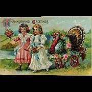 Little Girls With Big Turkey
