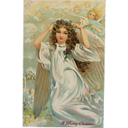 Angel With Violets- Undivided Back