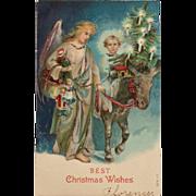 Angel With Holy Child On Donkey