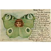 Fantasy Face In Butterfly- 1903