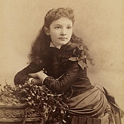 Cabinet Card- Lovely Teen Beauty With Long Hair