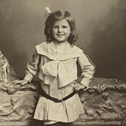 Cabinet Card- Young Boy With Happy Grin And Lord Fauntleroy Curls