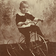Cabinet Card- Little Boy On Big Tricycle