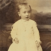Cabinet Card- Little Florence With Earring