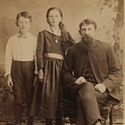 Cabinet Card- The Long's From Great Plains