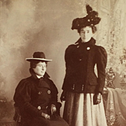 Cabinet Card-  Fargo Ladies In Coats And Hats