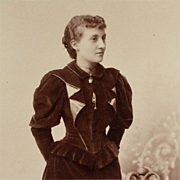 Cabinet Card- Young Woman In Elegant Victorian Era Dress