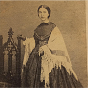 CDV-Victorian Era Woman With Shawl