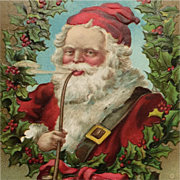 Jolly Santa With Long Pipe