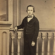CDV- CWE Boy With Internal Revenue Stamp 1864