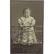 CDV- Little German Girl With Locket