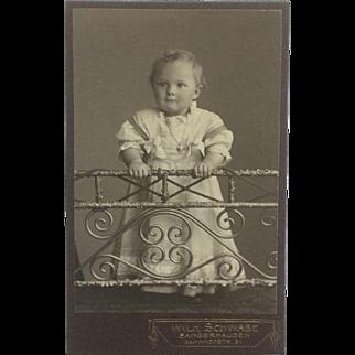 CDV- Little German Girl With Locket