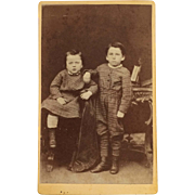 CDV- Little Boys In Plaid