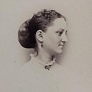 Carte De Visite- Civil War Era Woman's Vignette
