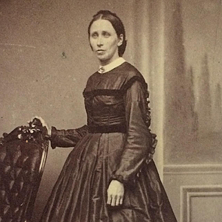 CDV-CWE Lady In Hoop Skirt - Jane Gilbert