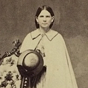 CDV- CWE Lady In Hoop Dress, Cape And Hat
