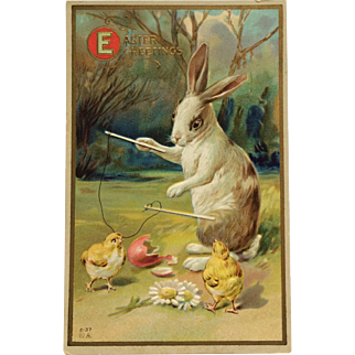 Easter Fantasy Rabbit Plays Diabolo