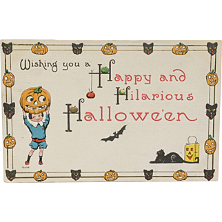 Happy And Hilarious Halloween Postcard