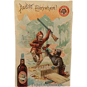 Trade Card- Pabst-Milwaukee Beer