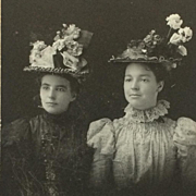 Cabinet Card- Ladies In Hats