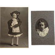 Photographs-Little Girl In Holiday Best And Darling Boy