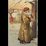 Old World Santa And Reindeer