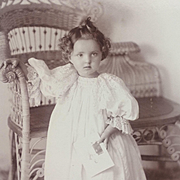 Cabinet Card- Darling Victorian Little Girl