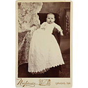 Cabinet Card- Sweet Baby With Lacy Drape