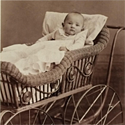 Cabinet Card- Baby In Carriage