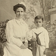 Cabinet Card- Lovely Mother And Son In Colorado
