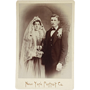 Cabinet Card- Elegant Bride And Groom