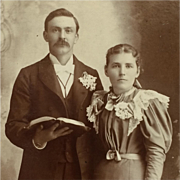 Cabinet Card- Wedding Couple