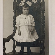 Cabinet Card- Little Girl With Wooden Leg