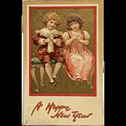 New Year's Children Enjoy A Treat
