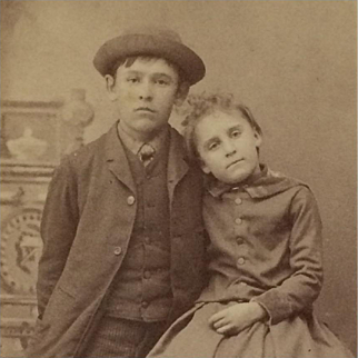 Carte De Visite- Big Brother And Little Sister