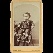 CDV- Little Victorian Era Boy From San Francisco
