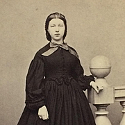 CDV- Civil War Era Beauty In Hoop Skirt