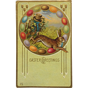 Easter Rabbit On Run
